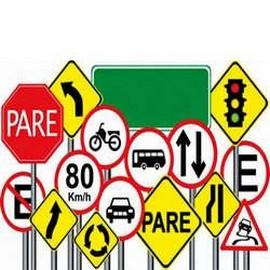 Comprar placas de sinalização de trânsito