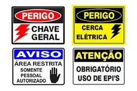 Comprar placa de sinalização de segurança