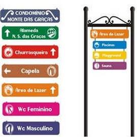 Placas de sinalização para condominios