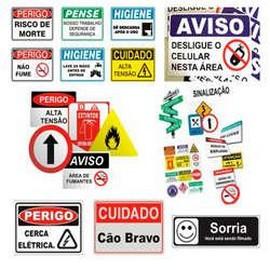 Placa de sinalização para condominios
