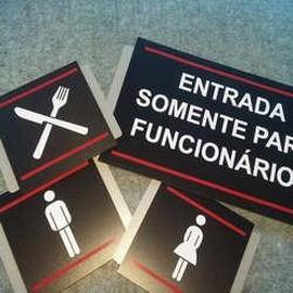 Placas de sinalização personalizada industrial