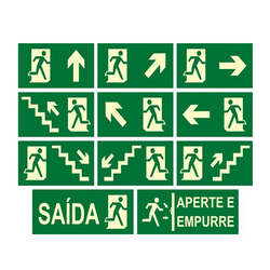 Placas de sinalização personalizada saída