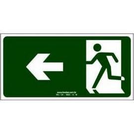 Placa de sinalização personalizada saída