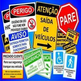 Placas sinalização comercial