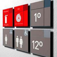 Placas de sinalização interna personalizada