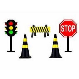 Cones para sinalização de trânsito