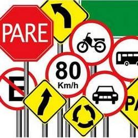 Placas de sinalização de trânsito preço