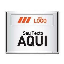 Placa de sinalização personalizada