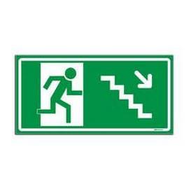 Placa de sinalização de rota de fuga