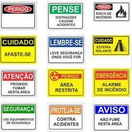 Placa de sinalização para empresas