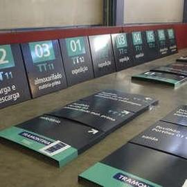 Placa de sinalização personalizada industrial