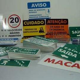 Comprar placa de sinalização personalizada industrial