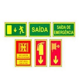 Comprar placa de sinalização personalizada saída