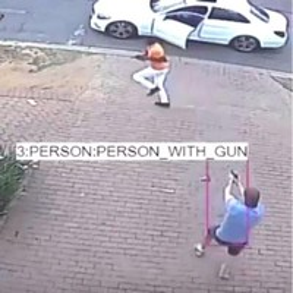 Câmera que detecta assalto
