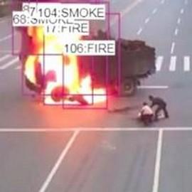 Câmera que detecta incêndio