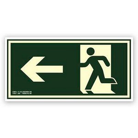 Placa de rota de fuga